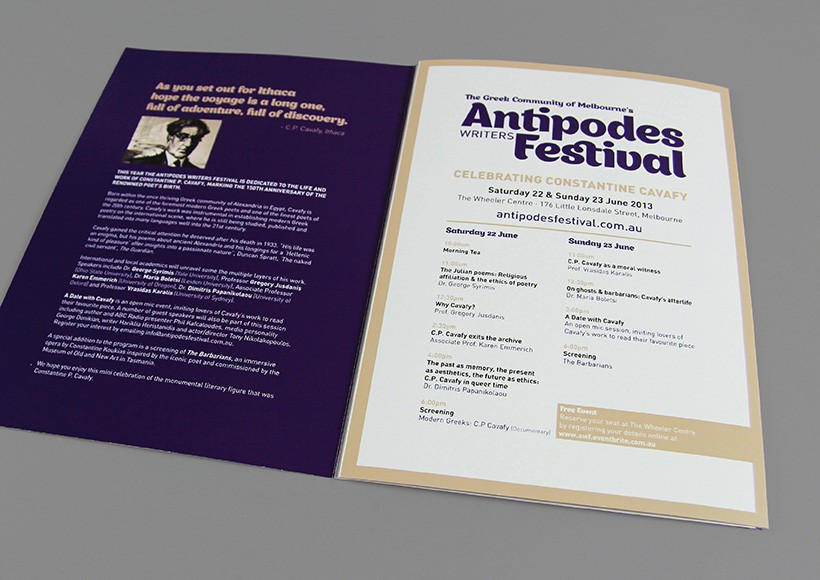 ANTIPODES WRITERS FESTIVAL 2013 · 03