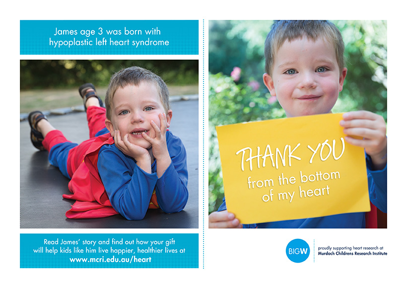 MURDOCH CHILDRENS RESEARCH INSTITUTE BIG W CAMPAIGN