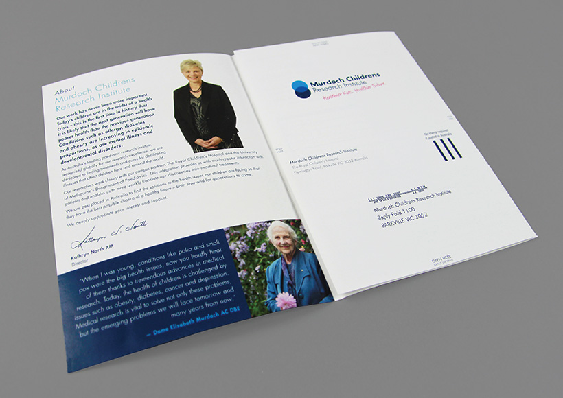 MURDOCH CHILDRENS RESEARCH INSTITUTE DONATION BROCHURE