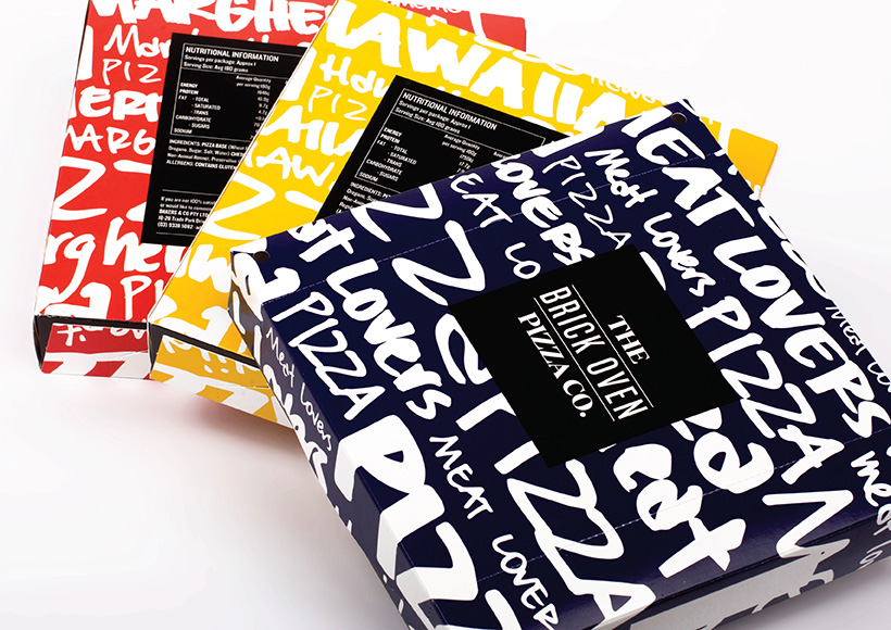 THE BRICK OVEN PIZZA CO. PACKAGING