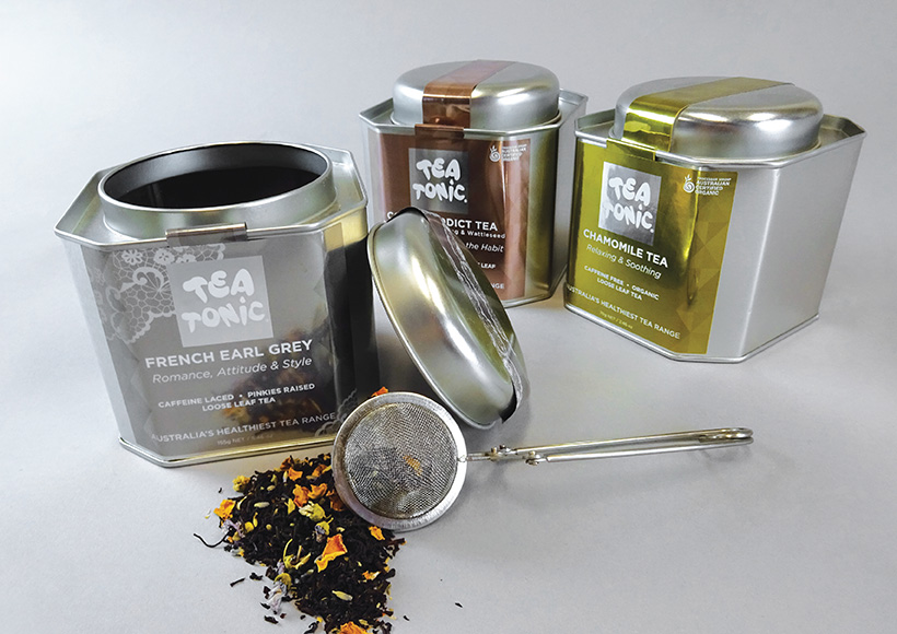 TEA TONIC CADDY PACKAGING