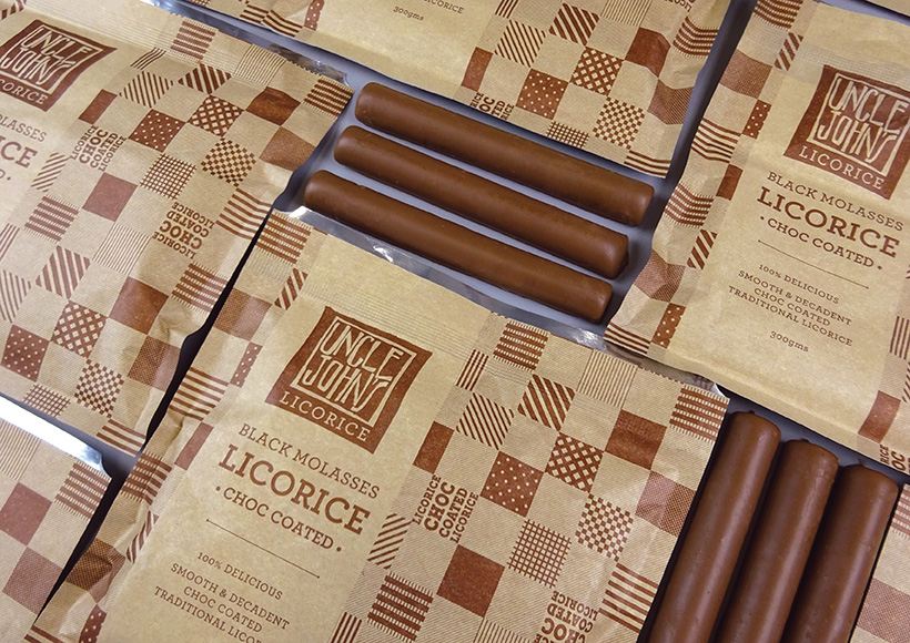 UNCLE JOHN'S LICORICE PACKAGING