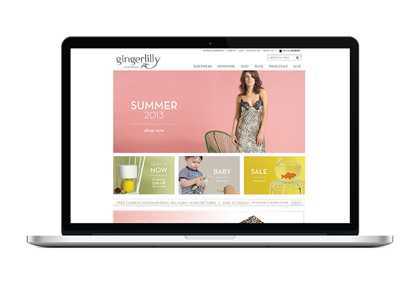 GINGERLILLY SPRING/SUMMER 2013 WEBSITE