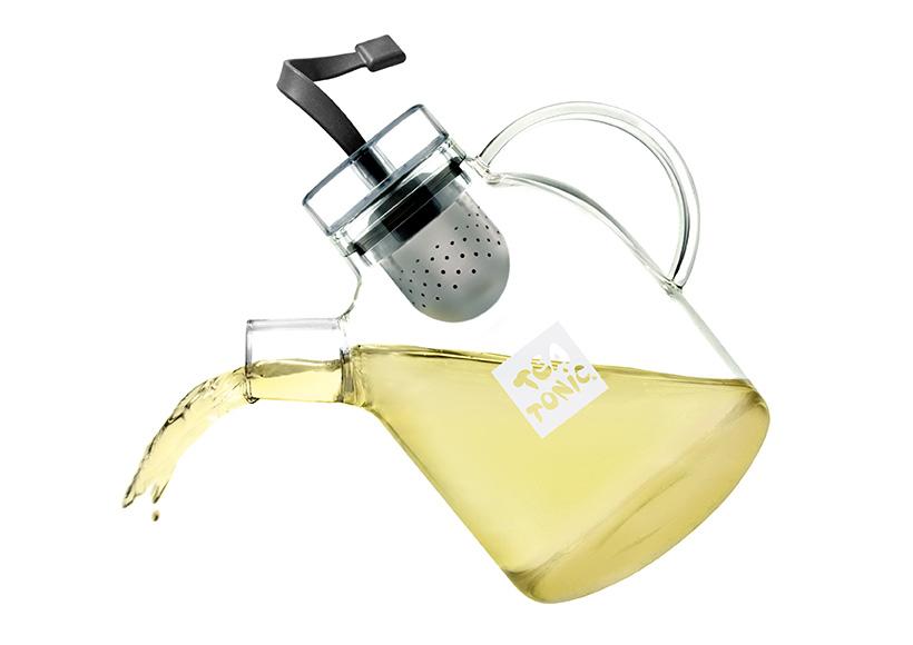 TEA TONIC GLASS TEA POT PACKAGING