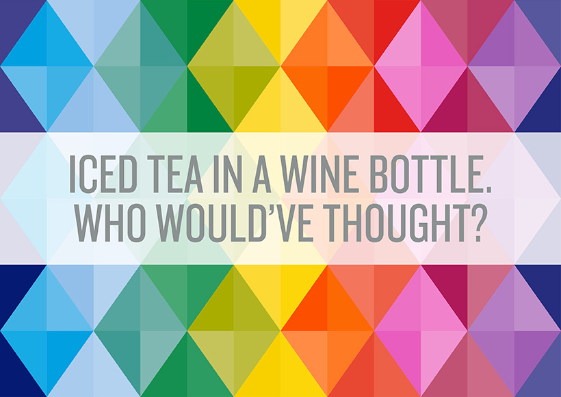 TEA TONIC WINE BOTTLE PACKAGING