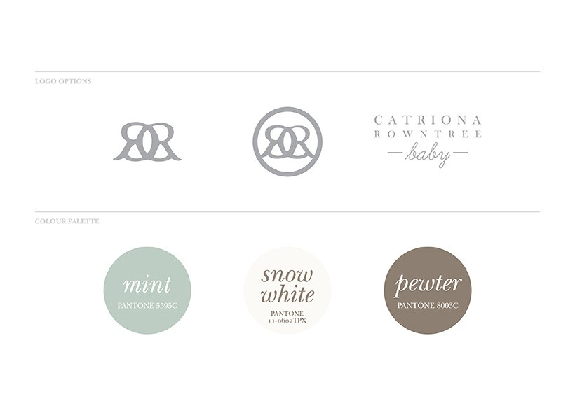 CATRIONA ROWNTREE BABY PACKAGING STYLE GUIDE · 02