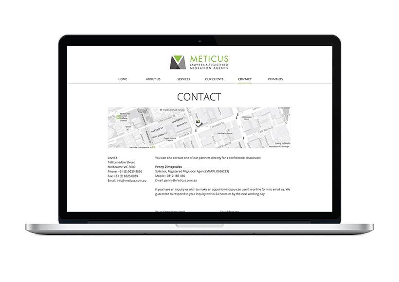 METICUS WEBSITE · 02